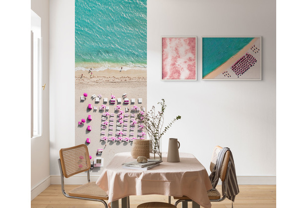 "Komar Digitaldruck Fototapete auf Vlies\""Pink Umbrella\"" 100 x 250 cm"