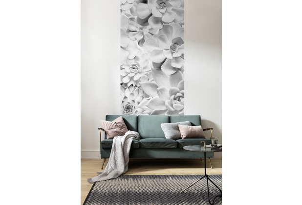 "Komar Digitaldruck Fototapete auf Vlies\""Shades Black and White Panel\"" 100 x 250 cm"