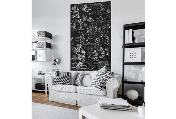 "Komar Digitaldruck Vlies Panel \""Mickey - Chalkboard\"" 120 x 200 cm"