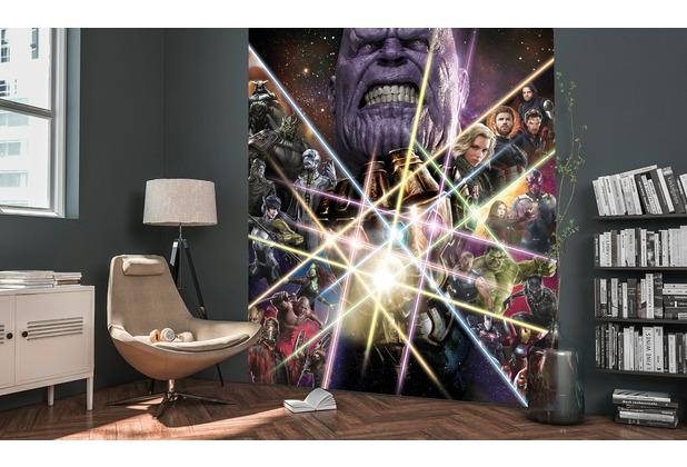 "Komar Digitaldruck Vliestapete \""Avengers Infinity War- Infinity Power\"" 200 x 250 cm"