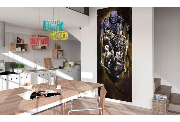 "Komar Digitaldruck Vliestapete \""Avengers Infinity War - Thanos Badge\"" 100 x 250 cm"