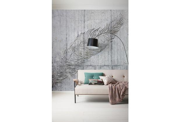 "Komar Digitaldruck Vliestapete \""Betonfeder\"" 300 x 250 cm"