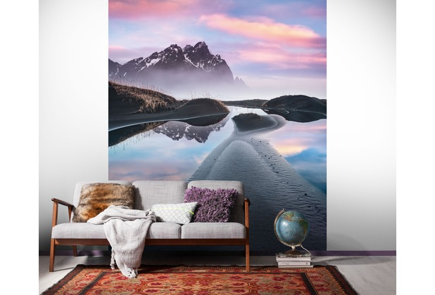 "Komar Digitaldruck Vliestapete ""Glowing Vestrahorn\"" 200 x 250 cm"