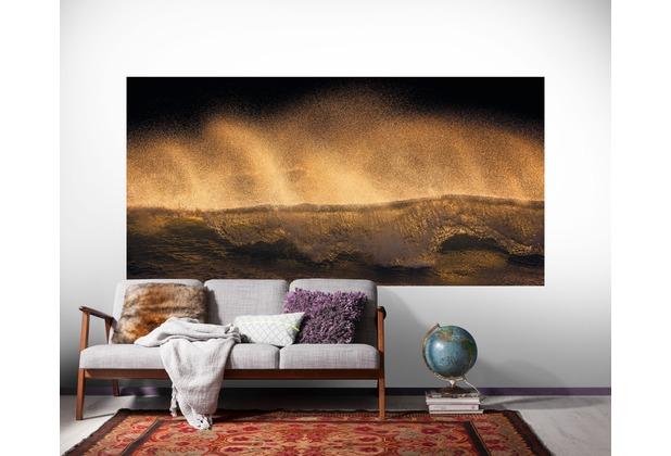 "Komar Digitaldruck Vliestapete \""Golden Wave\"" 200 x 100 cm"