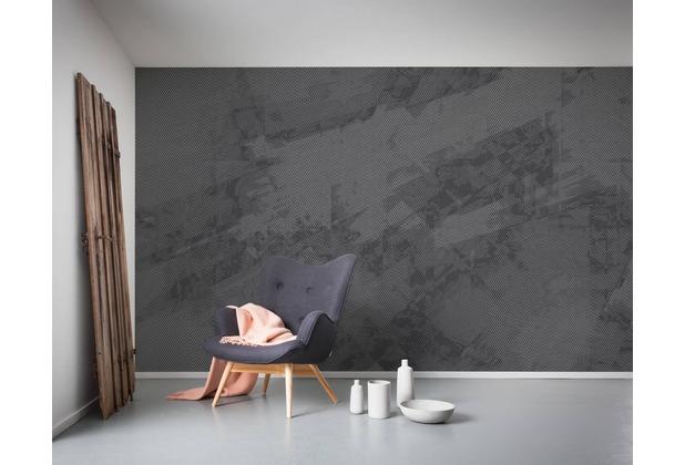 "Komar Digitaldruck Vliestapete \""Maya Tweed b/w\"" 400 x 250 cm"