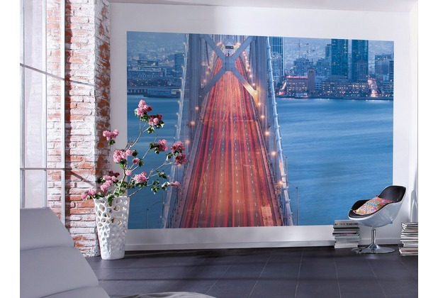 "Komar Digitaldruck Vliestapete \""San Francisco Blues\"" 300 x 200 cm"