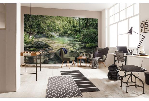 "Komar Digitaldruck Vliestapete \""Tranquil Pool\"" 400 x 250 cm"