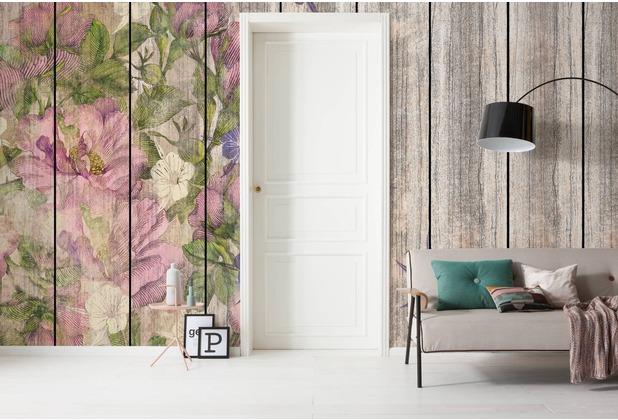 "Komar Digitaldruck Vliestapete \""Vintage Rose\"" 500 x 250 cm"