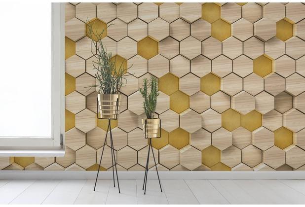 "Komar Digitaldruck Vliestapete \""Woodcomb Birch\"" 400 x 250 cm"