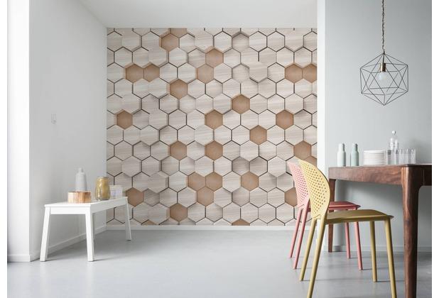"Komar Digitaldruck Vliestapete \""Woodcomb Nude\"" 400 x 250 cm"