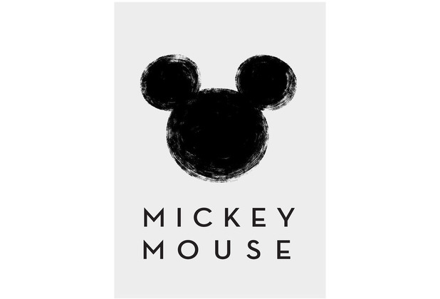 Komar Disney Wandbild Mickey Mouse Silhouette 30 x 40 cm