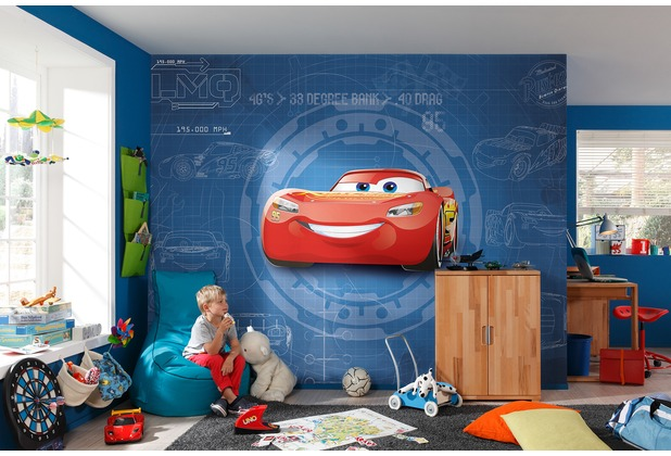 Komar Fototapete Cars3 Blueprint