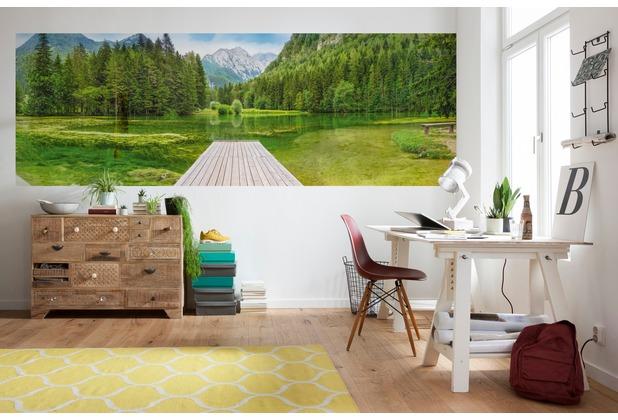 """Komar Fototapete \""""Green Lake\"""" 368 x 127 cm"""