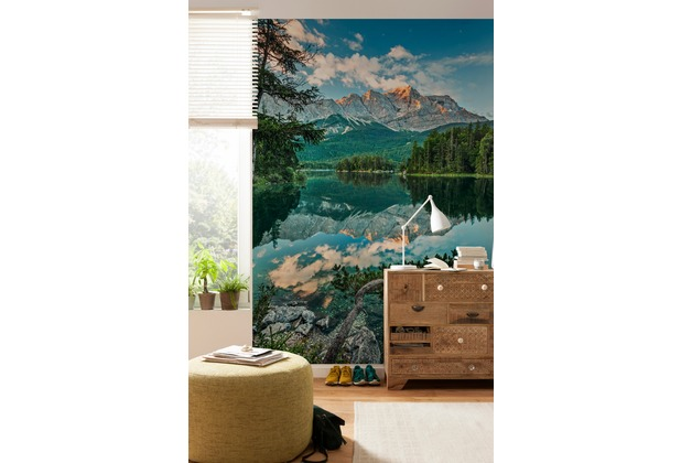 """Komar Fototapete \""""Mirror Lake\"""" 184 x 254 cm"""