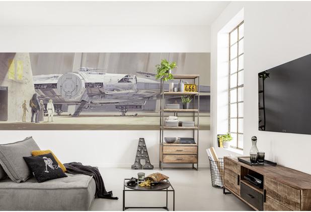 """Komar Fototapete \""""STAR WARS Classic RMQ MilleniumFalcon\"""" 368 x 127 cm"""