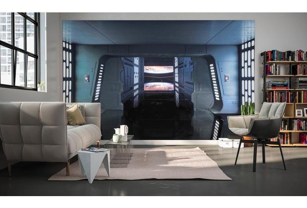 komar fototapete star wars death star floor 400 x 250 cm. Black Bedroom Furniture Sets. Home Design Ideas