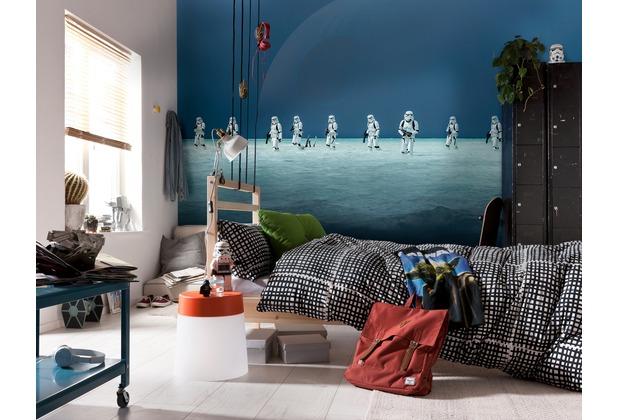 "Komar Fototapete \""Star Wars - Scarif Beach\"" blau/grau/weiß"