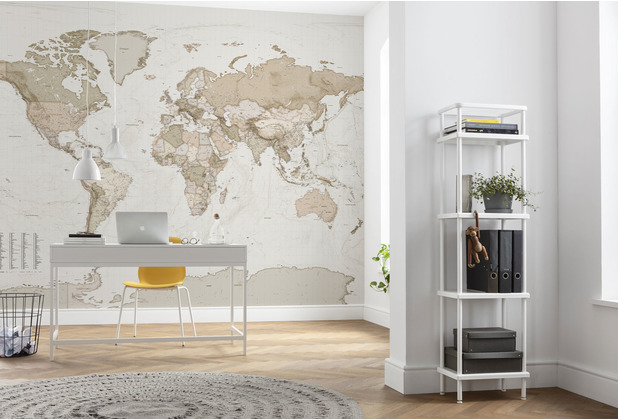 "Komar home Vlies Fototapete \""Earth Map\"" 350 x 250 cm"