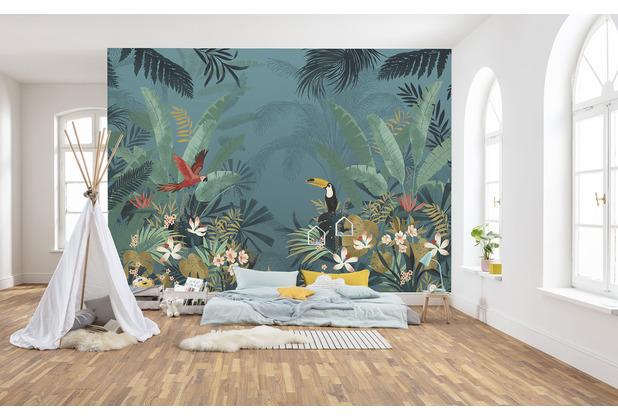 "Komar home Vlies Fototapete \""Enchanted Jungle\"" 368 x 248 cm"