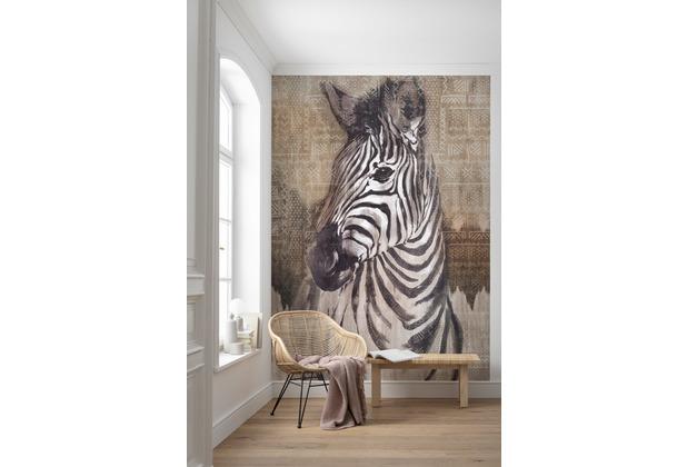 """Komar home Vlies Fototapete \""""Zebra\"""" 200 x 250 cm"""