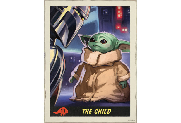 Komar Mandalorian Wandbild Mandalorian The Child Trading Card 30 x 40 cm
