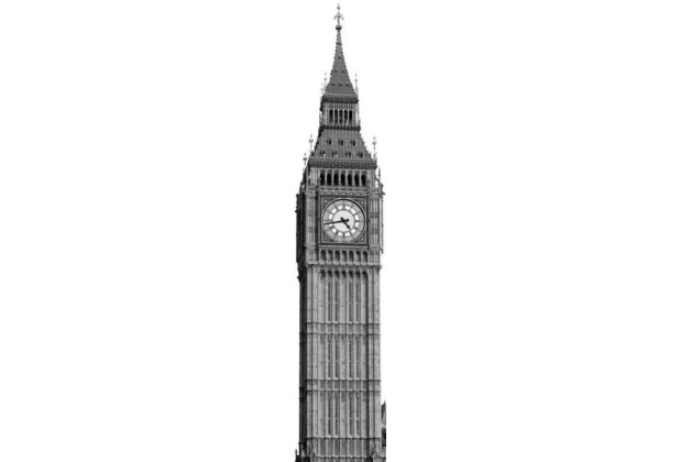 Komar Vlies Fototapete munich design book - Big Ben 50 x 250 cm