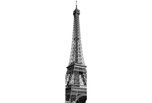 Komar Vlies Fototapete munich design book - Tour Eiffel 50 x 250 cm