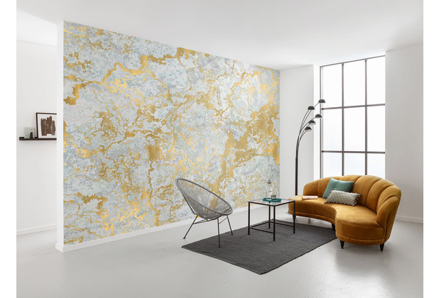 Komar RAW Marbelous gold, weiß 400 x 280 cm