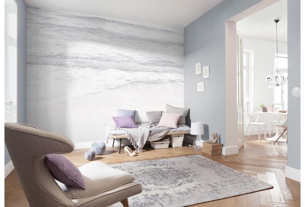 Komar RAW Silver Beach silber, weiß, grau 400 x 280 cm