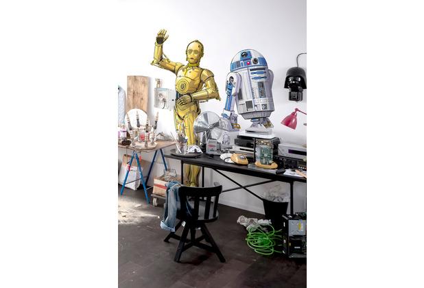 "Komar Selbstklebende Vlies Fototapete \""Star Wars XXL C-3PO\"" 127 x 200 cm"