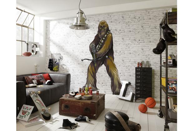 "Komar Selbstklebende Vlies Fototapete \""Star Wars XXL Chewbacca\"" 127 x 200 cm"