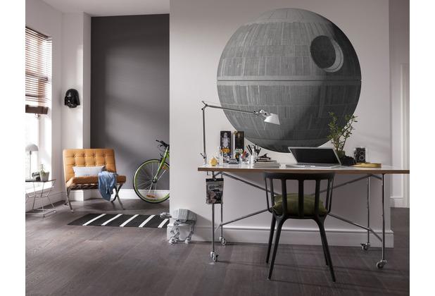 "Komar Selbstklebende Vlies Fototapete \""Star Wars XXL Death Star\"" 127 x 127 cm"