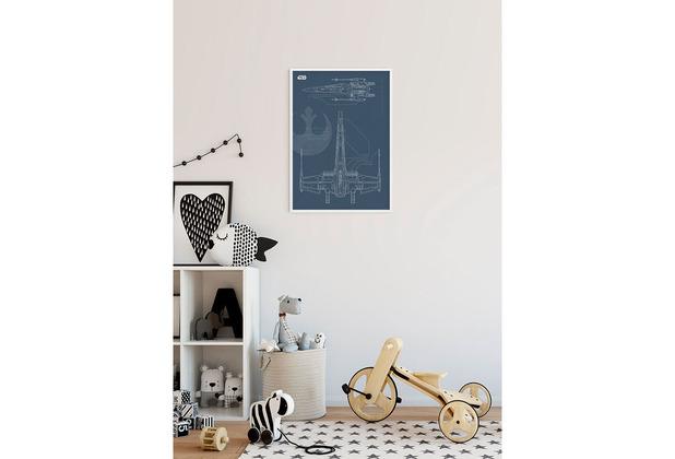 Komar Star Wars Wandbild Star Wars Blueprint X-Wing 30 x 40 cm