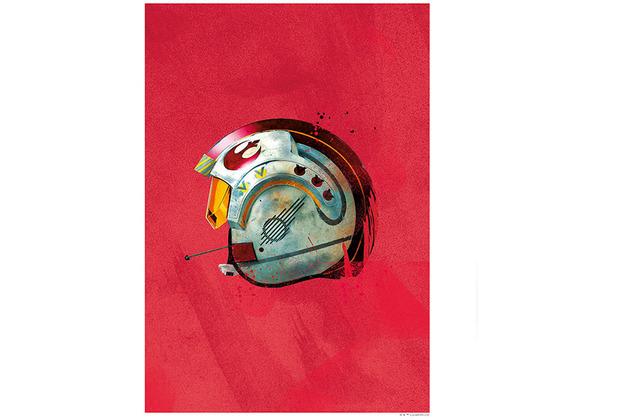 Komar Star Wars Wandbild Star Wars Classic Helmets Rebel Pilot 30 x 40 cm