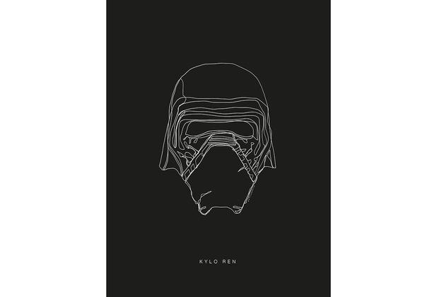 Komar Star Wars Wandbild Star Wars Lines Dark Side Kylo 30 x 40 cm