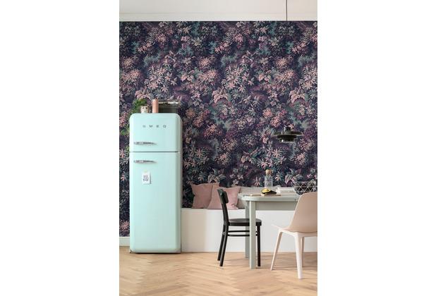 "Komar Vlies Fototapete \""Botanique Aubergine\"" 300 x 280 cm"
