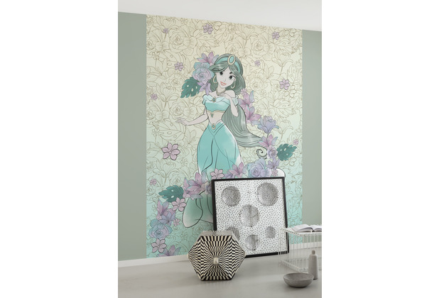 "Komar Vlies Fototapete \""Jasmin Pale Flowers\"" 300 x 280 cm"