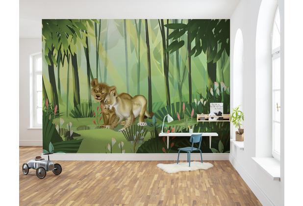 """Komar Vlies Fototapete \""""Lion King Love\"""" 200 x 280 cm"""