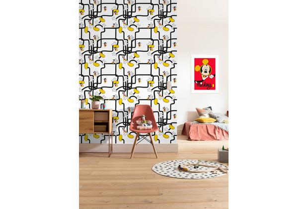 "Komar Vlies Fototapete \""Mickey Mouse - Foot Labyrinth\"" 200 x 280 cm"