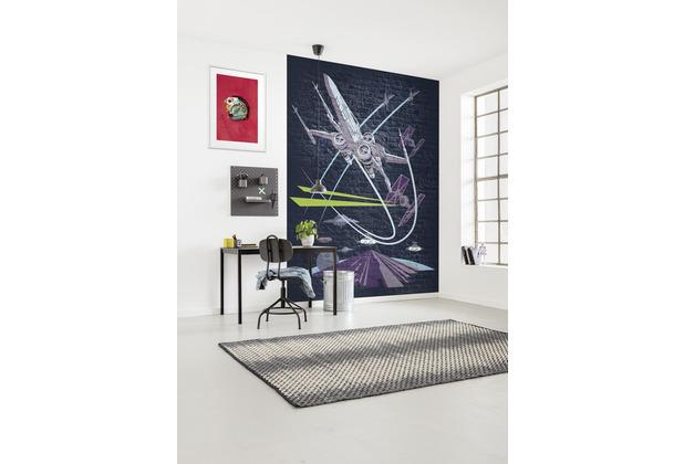 "Komar Vlies Fototapete \""Star Wars Classic Concrete X-Wing\"" 200 x 280 cm"