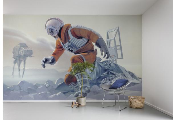 "Komar Vlies Fototapete \""Star Wars Classic RMQ Hoth Battle Pilot\"" 500 x 250 cm"
