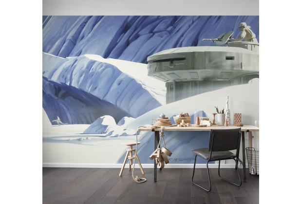 """Komar Vlies Fototapete \""""Star Wars Classic RMQ Hoth Echo Base\"""" 500 x 250 cm"""
