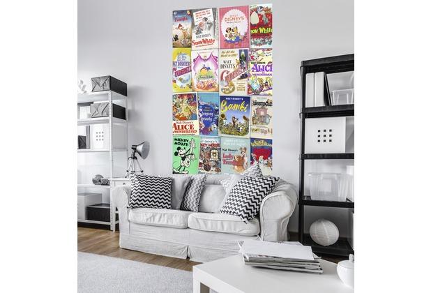 "Komar Vlies Panel \""Disney Movie Posters Retro Girls\"" 120 x 200 cm"