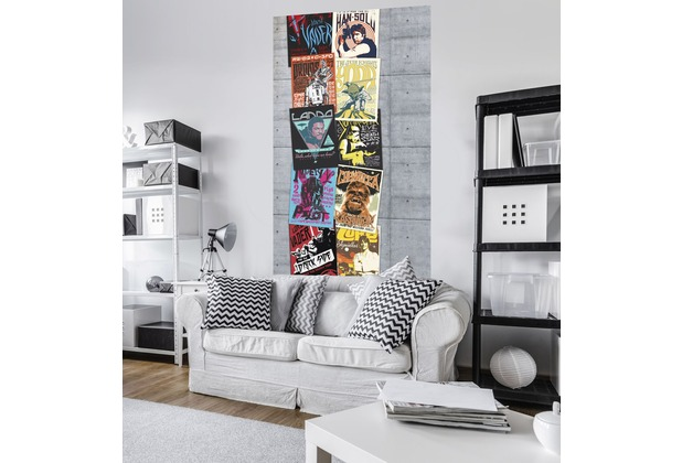 "Komar Vlies Panel \""Star Wars Rock On Wall\"" 120 x 200 cm"