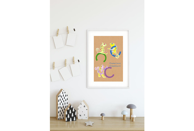 Komar Wandbild ABC Animal C 30 x 40 cm