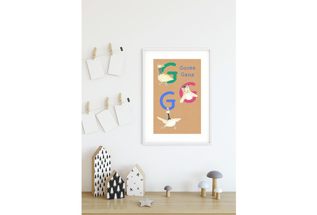Komar Wandbild ABC Animal G 30 x 40 cm
