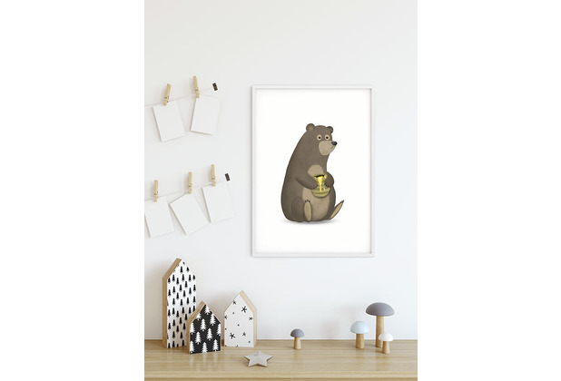 Komar Wandbild Cute Animal Bear 30 x 40 cm
