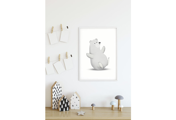 Komar Wandbild Cute Animal Polar Bear 30 x 40 cm