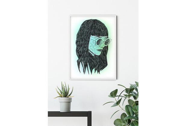 Komar Wandbild Grid Green 30 x 40 cm
