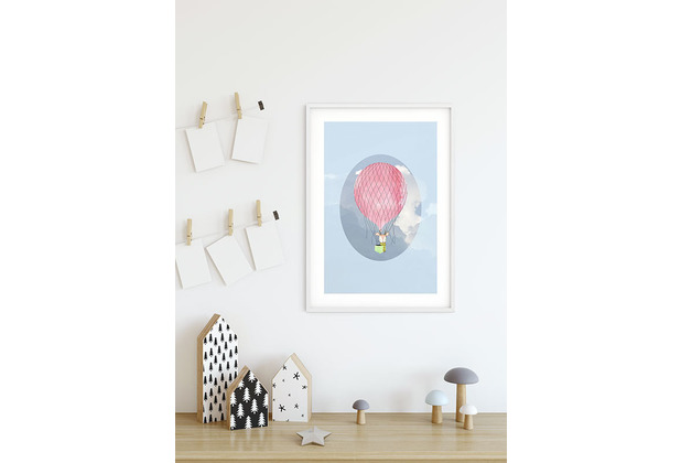 Komar Wandbild Happy Balloon Blue 30 x 40 cm